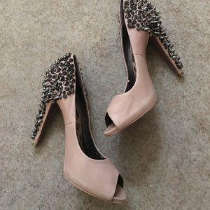 Sam Edelman nude leather studded heels!